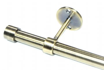 19mm Antique Brass Ceiling Eyelet Curtain Pole with End Cap Finials 1.2m 1.5m 2.4m 3m